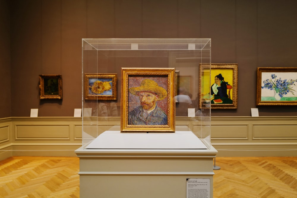 a self portrait of Van Gogh