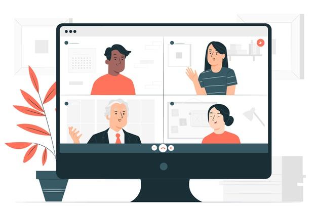 concept illustration online video archive